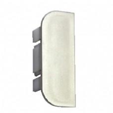 Заглушка С - образная, правая для профильной ручки - планки серебристого цвета