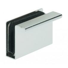 Деталь-ручка для стеклянной двери, сталь  хром