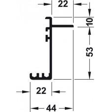 Двойная ходовая шина верхняя 3,5 м. Silent VF-40