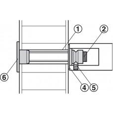 Дополнительное крепление к ручке, при одностороннем монтаже, для толщины двери от 38-55 мм