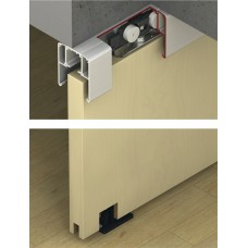 Комплект роликов для одной раздвижной деревянной двери с односторонним дэмпфер .Slido 40-C version B