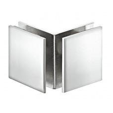 Держатель стекла 8-12 мм, 90 град., латунь, хром, полированный