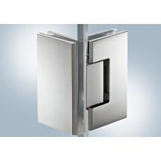 Петля для двери душа, 8-12 мм, латунь. хром, полированный, 90*