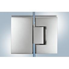 Петля для двери душа  8-12 мм, 180°, латунь, хром полир.