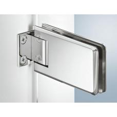 Петля для двери душа, латунь,  хром, стена-стекло, 8-12 мм