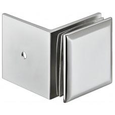 Держатель стекла 8-10 мм с уголком, хром, полированный, 90 градусов