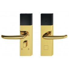 Дверной терминал DT700 offline нержавеющая сталь цвета латуни дверная ручка J-образной формы