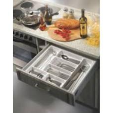 Вставка для столовых приборов (пластмасса, серый, MIN 500 - MAX 540 мм, глубина 440-480 мм
