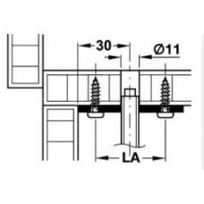 Крепежная пластина для регулировочной ножки М 10, сталь, гальванизированная