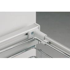 Базирующий элемент для провода,навешивание на ограждение, 4 баз. элемента  пластик, цвет серый