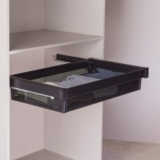 Выдвижная корзина  для шкафа цвет черный , 90 см
