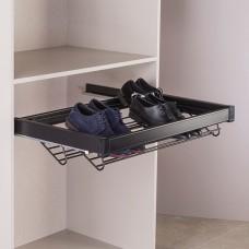 Выдвижная корзина для обуви, цвет  черный 90 см