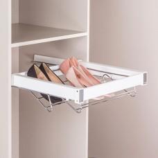 Выдвижная корзина для обуви, цвет  белый 60 см