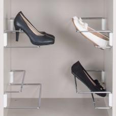 Держатель обуви раздвижной ,хром/белый , 420-700mm