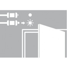 Дверной контактный выключатель на открывание Loox LED (кнопочный)