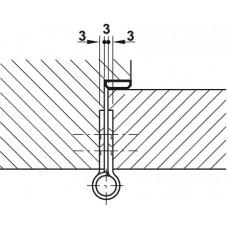 Навес для межкомнатных дверей/80 гк нагрузка/76 мм,
