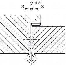 Петля для межкомнатных дверей цвет латунь 102x76x3mm