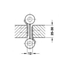 Петля для маятниковых дверей, сталь, никелир.100mm 22 кг на пару