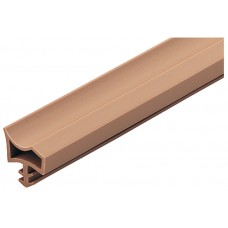 Уплотнитель для межкомнатных дверей, цвет темно-коричневый   25m