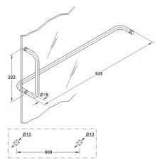Пара ручек для душевой 8-12 мм, латунь, хром полирован.