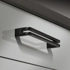 Мебельная ручка, цвет черный мат 202x28mm