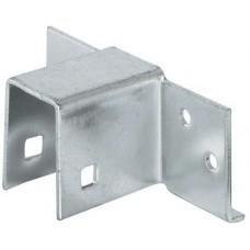 Цокольная кроватная стяжка, толщина 23 мм, сталь, оцинкованная, упор левый и правый