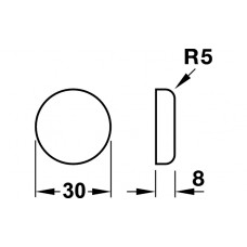Заглушка для навеса Metalla-Мini, D=30 мм, пластик, цвет хром полирован.