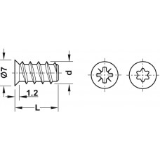 Винт Varianta, 5х13,5 мм,  сталь,  оцинкованная