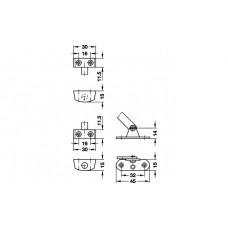 Крепежная мебельная фурнитура,  200 мм